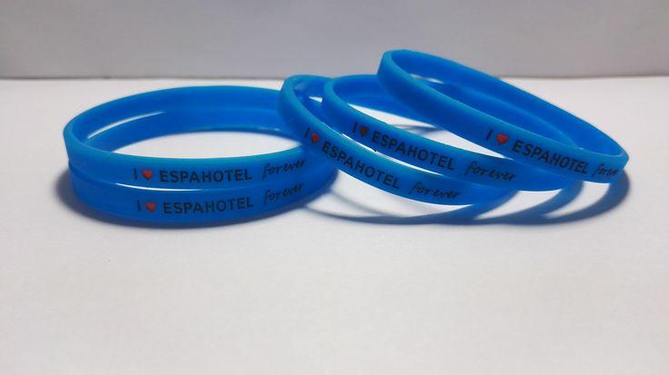 pulseras de silicona personalizadas #espahotel I love espahotel