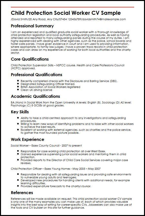 Cv Template Social Work Cvtemplate