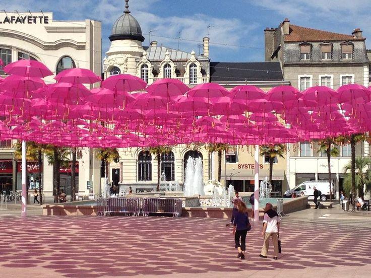 Place Clemenceau w Pau, Aquitaine