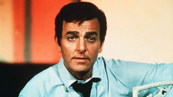 """Mike Connors, best known for playing detective Joe Mannix on 1960s and '70s show """"Mannix,"""" died Thursday in Tarzana, Calif. He was 91."""
