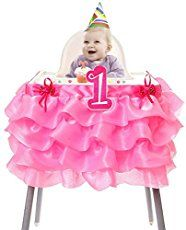 A simple no sew highchair tutu that dresses up any birthday girl's chair.