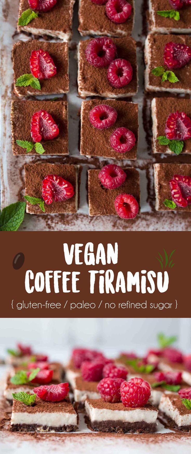 Vegan Coffee Tiramisu {gluten-free / paleo / no refined sugar }