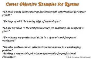 Good Career Objective Examples for Resumes - Bing Images