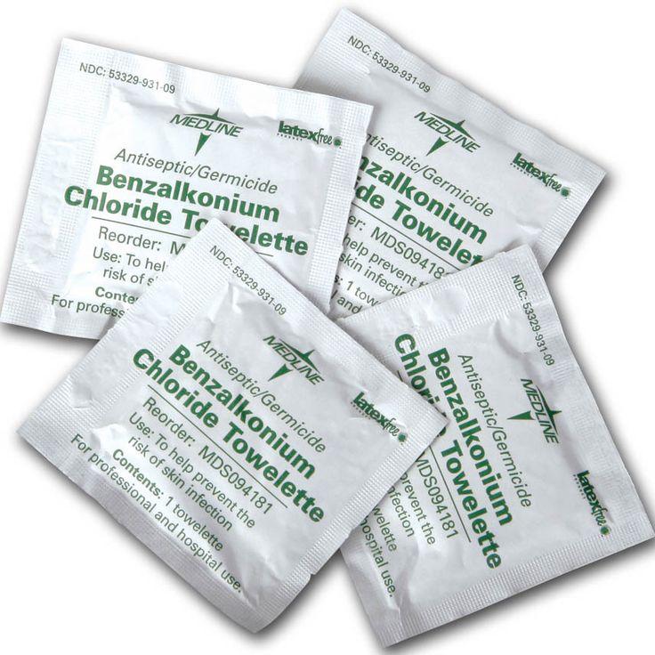 Medline Benzalkonium Chloride Towelettes