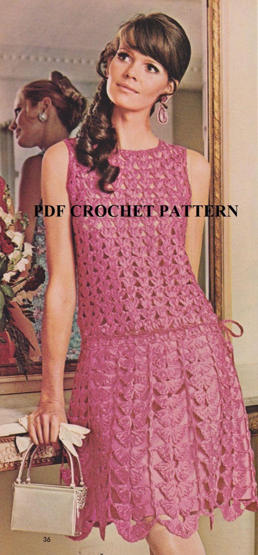 Vintage 1970's Women's Ribbon Dancing Dress by KatnaboxCrochet