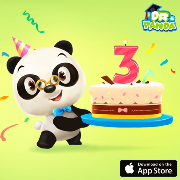 Birthday time! Yay! Dr. Panda is 3 years old, and to celebrate we have a special gift for you on the App Store: 14 Dr. Panda apps at a special birthday price! www.appstore.com/drpanda