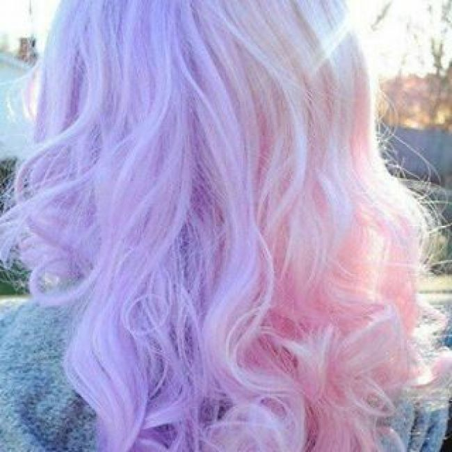 Lavender And Pink Split Dye Hair Dye In 2018 Pinterest Pastel Hair Hair And Hair Styles Light Hair Color Split Dyed Hair Hair Styles
