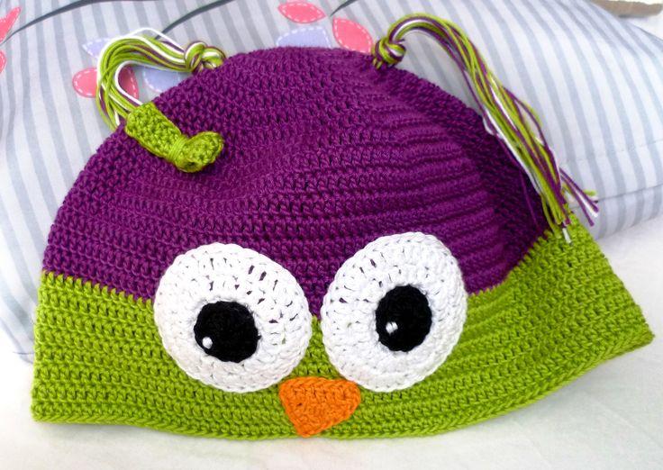 háčkovaná čepice sovička/Crochet cap
