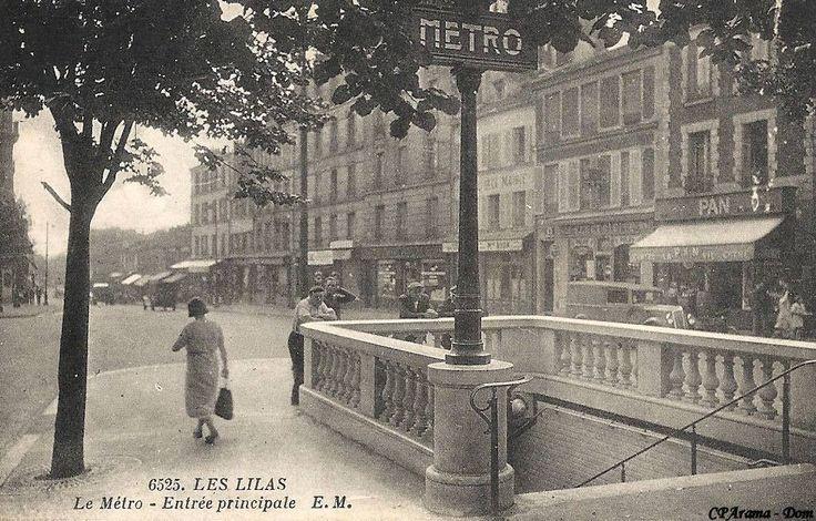 Métro Mairie des Lilas, ouvert en 1937 #PEAV ntourage de pierre de style Cassien-Bernard