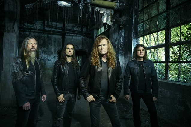 Dave Mustaine with the present line up of MEGADETH