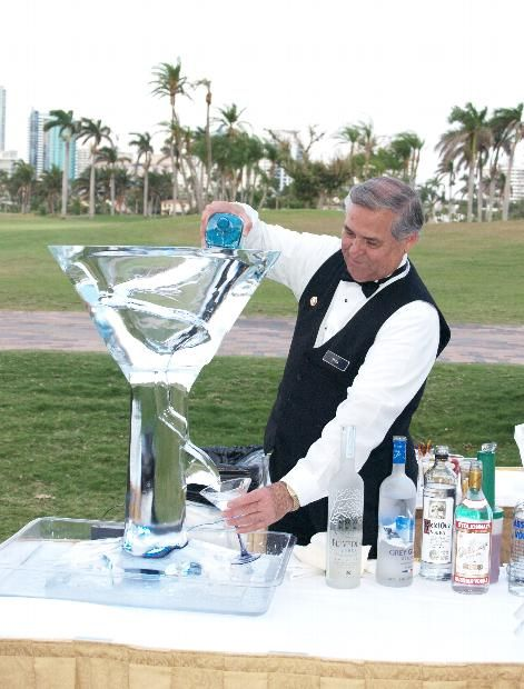 bar service ice luge with signature cocktail..on our wedding bar ,with our favorite vodka cocktail....can't wait for that first icy sip!,,,,,,