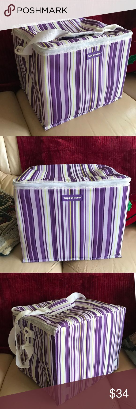 """NWOT Tupperware Insulated Cooler Never used Cooler! Retails $50. Great for picnics, sports games, beach. Approximately 15"""" x 13"""" x 12"""". Tupperware Bags"""