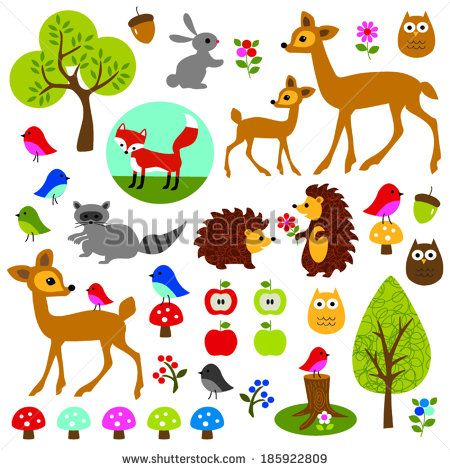 woodland animal clip art