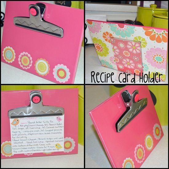 Itsy Bitsy Paper: . . . DIY Recipe Card Holder . . .