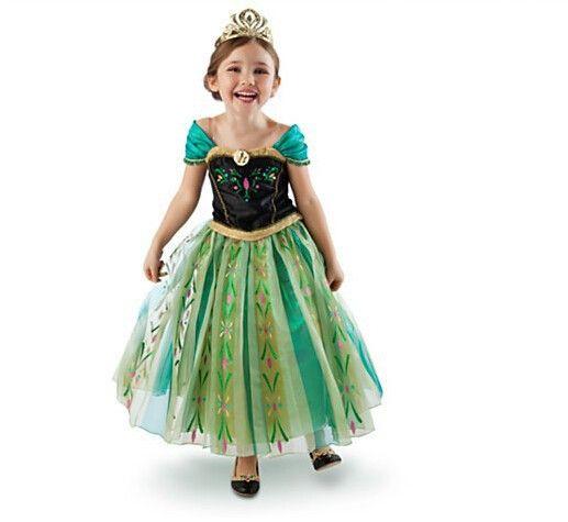 Spot FROZEN snow anna Adventure Romance dress cosplay girls dress skirt princess skirt - Taobao Pearl Christmas?