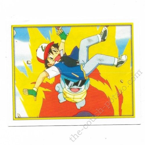 Pokemon Sticker Card  Squirtle Ash # 073 2x3 inches Merlin 2000 TV show pictures