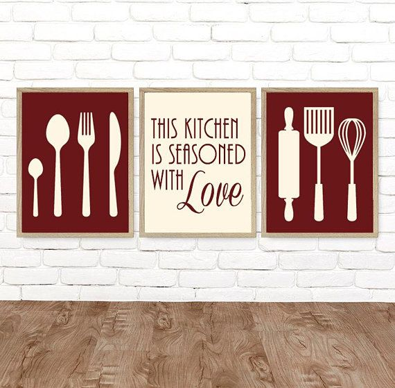 kitchen wall art canvas or prints dining room kitchen pictures rh pinterest com