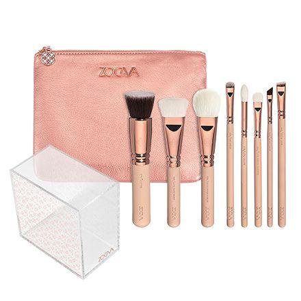 rose golden luxury set vol 2 incl brush holder wwwzoeva
