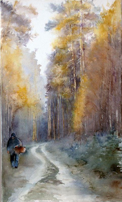 Pejzaz lesny z Adasiem by ~modliszqa on deviantART: