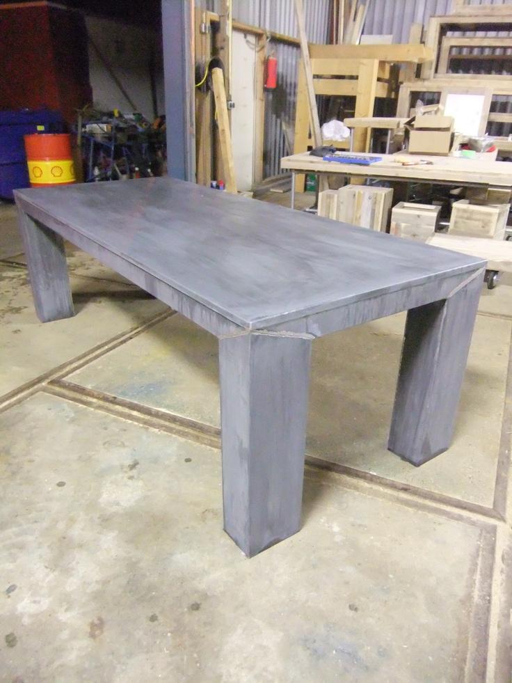25 beste idee n over zink tafel op pinterest zink werkbladen en bar bladen - Kleur schilderij zink ...