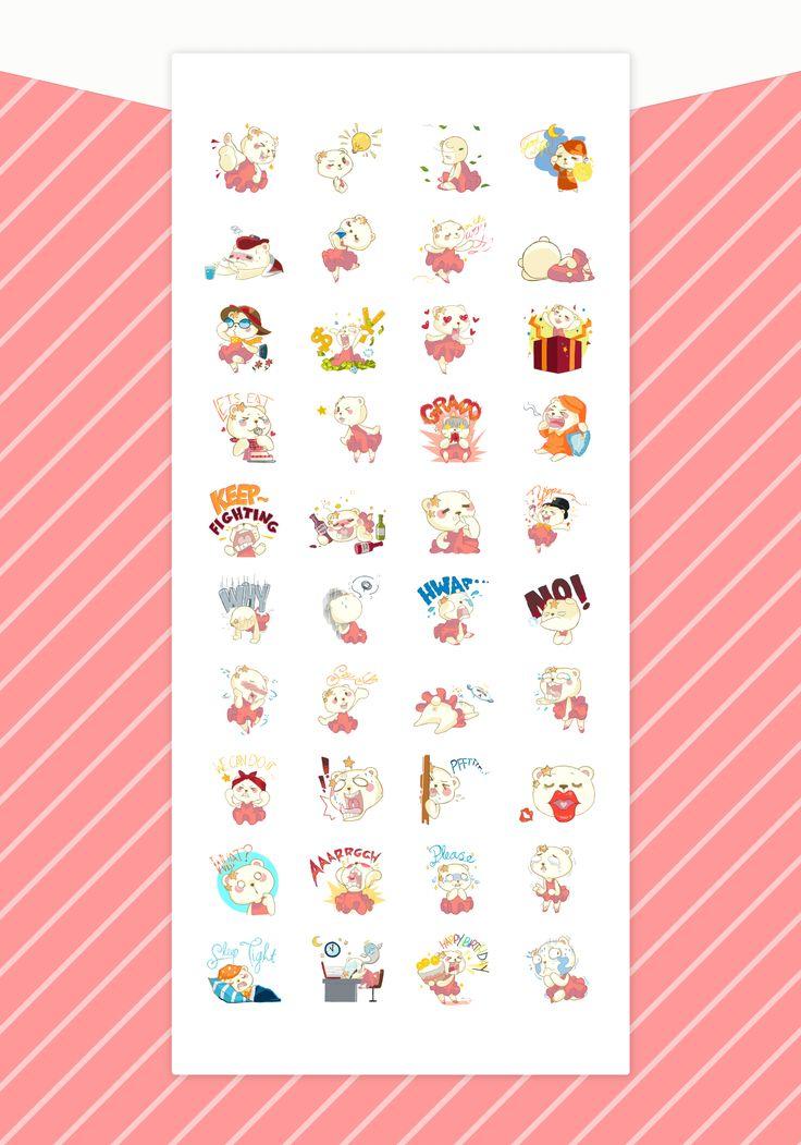 Polarina the Ballerina Bear - Stickers for Line on Behance