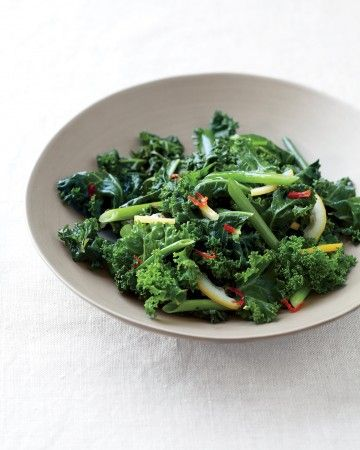 Spicy Sauteed Kale with Lemon - Lemon, honey, and fresh chile brighten ...