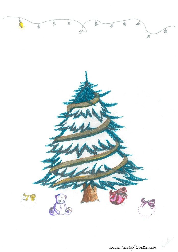 Free printable - Christmas tree for decorating with quilling or use as Playdoh mat