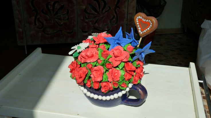 The gift for my sister. # flowers # polimerclay # glaze # handmade