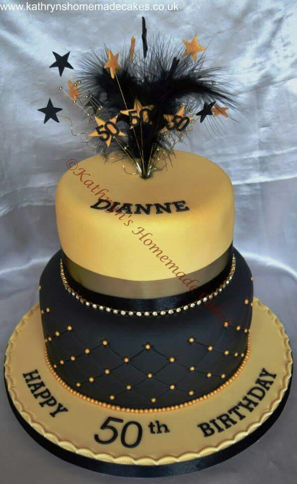 50th Birthday Cake Ideas Black Silver And Gold 50th Inducedfo