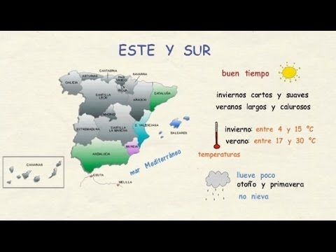 **** SUBTÍTULOS DISPONIBLES EN ESPAÑOL **** Aprender español: El clima en España. Aunque España siempre se asocia con el sol y el calor, la realidad es que c...