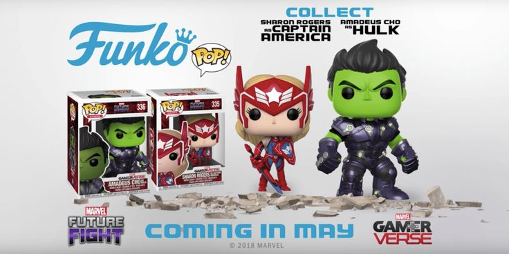 Marvel Future Fight Pops Featuring Amadeus Cho and Sharon Rogers Announced by Funko