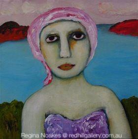 Regina Noakes figurative painting Red Hill Gallery, Brisbane. redhillgallery.com.au