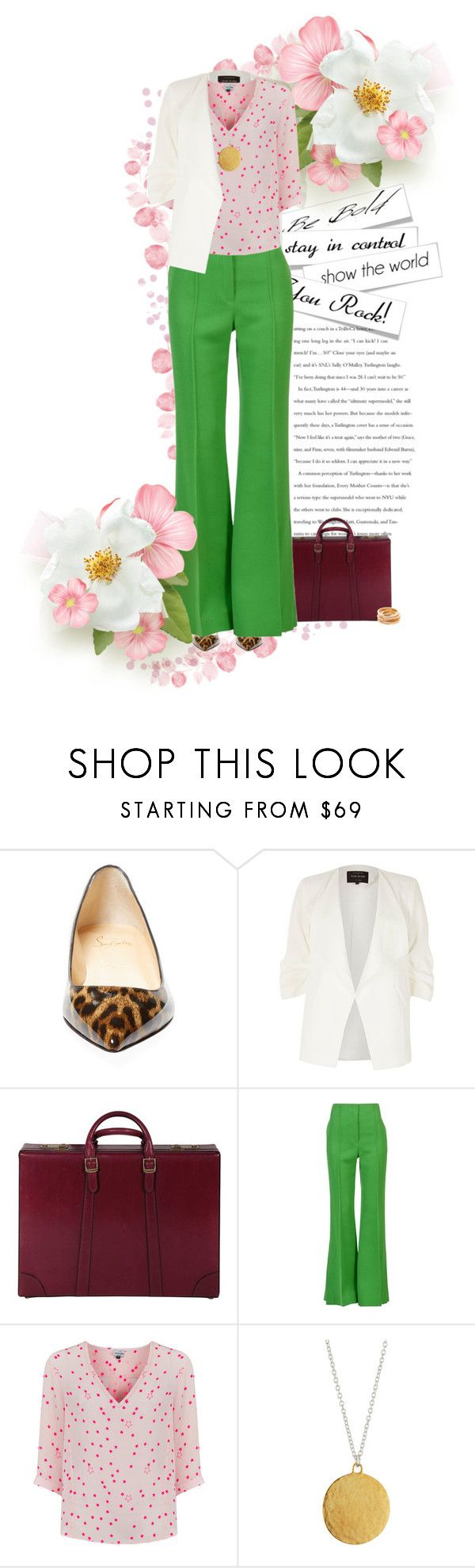 """""""Job Interview"""" by dawn-scott ❤ liked on Polyvore featuring Christian Louboutin, River Island, Gucci, CÉLINE, Mercy Delta, Gurhan and Kenneth Jay Lane"""