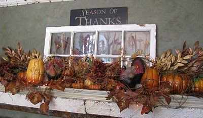 The perfect fall mantle! I just love the colors of fall!!: Mantles Decor, Fall Decor For Mantles, Thanksgiving Mantles, Decor Ideas, Fall Mantels, Fall Mantles, Fall Thanksgiving, Old Window, Window Panes