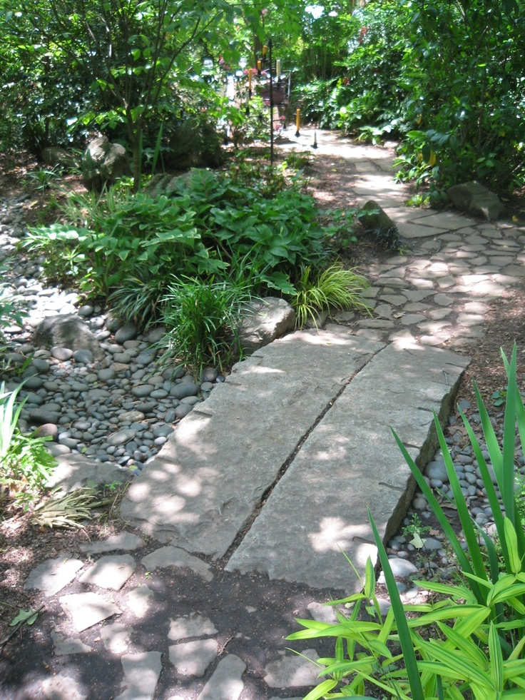 simple Asian style - 2 stone slabs - photographed on the Atlanta Gardens for Connoisseurs tour by Heather Moll-Dunn Landscape and Garden Design