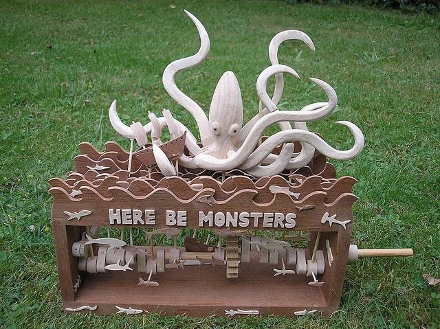 Here be monsters BIG SQUID automata   Flickr - Photo Sharing!