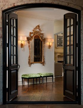 mirrored french doors design ideas pictures remodel and decor