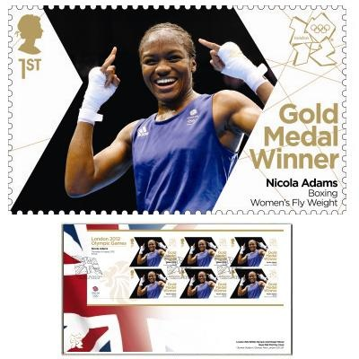 Large image of the Team GB Gold Medal Winner First Day Cover - Nicola Adams