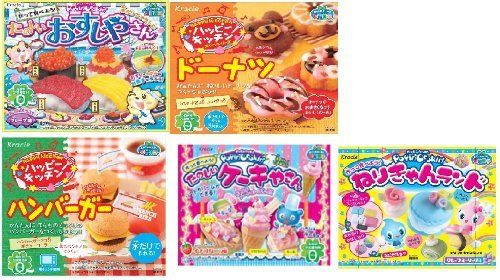 Kracie Popin Cookin 5 Item Bundle with Sushi Hamburger Donuts Funny Cake Nerikyan Land >>> Read more reviews of the product by visiting the link on the image.
