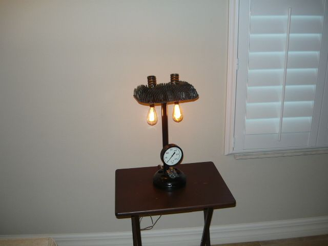 68 best hals restoration preservation and repurposing images on table lamp made from used car and motorcycle parts also used a vintage farm equipment mozeypictures Image collections