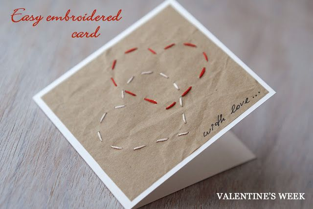 SAS does ...: EMBROIDERED VALENTINE'S DAY CARD