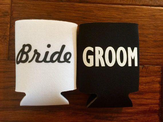 Bride And Groom Koozies Custom By BlissBridalWeddings