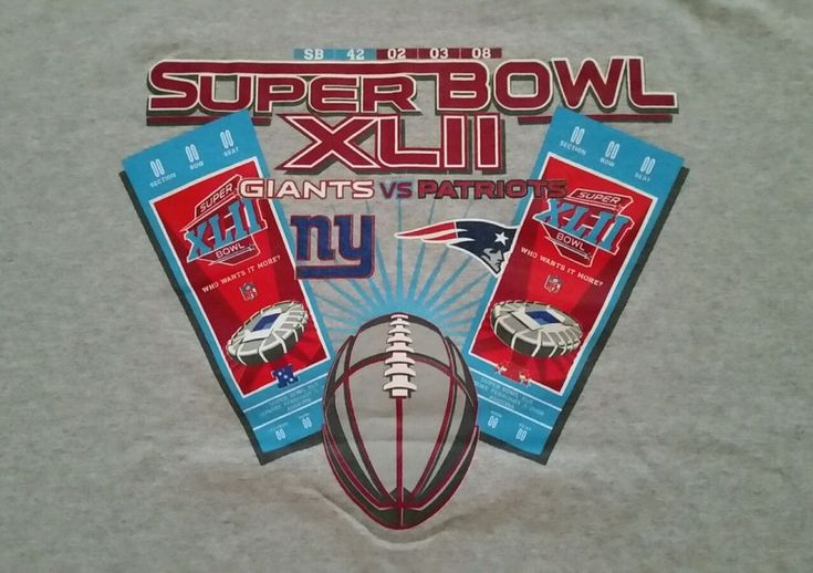 New York Giants vs. New England Patriots Super Bowl XLII Tickets T-Shirt! Nice! #NewYorkGiants