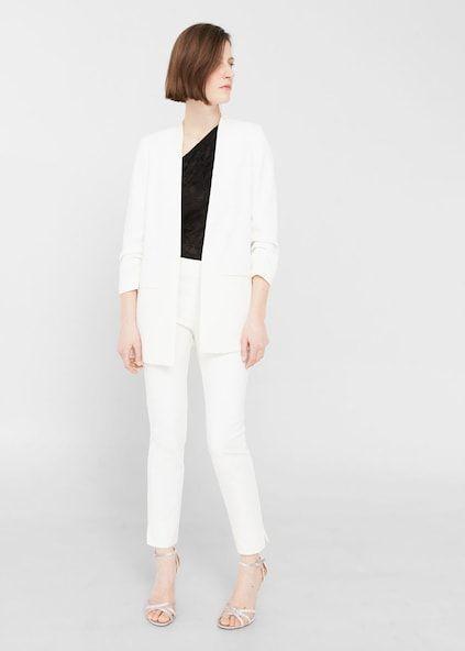 Ruched sleeves blazer