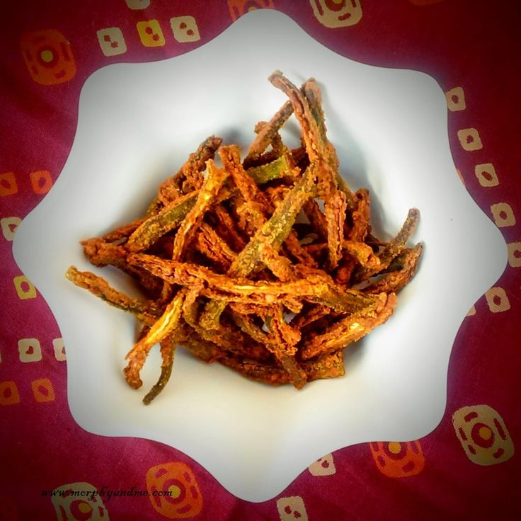 We used to visit this Gujarati restaurant and i always ordered their special 'tawa bhindi'. These were crispy , tangy, chat-pat and full of flavour. Last week i happened to come across a recipe on the blog -healthy food desi videsi that reminded me of those yummy lip-smacking crispy fried okra. I lo