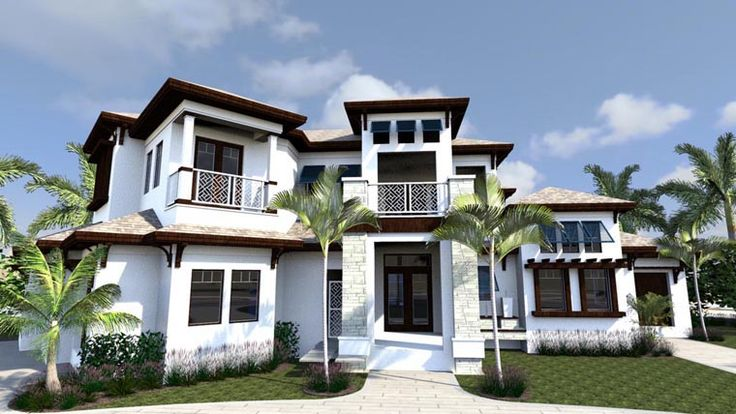 House Plan 71523 | Florida Plan with 6001 Sq. Ft., 5 Bedrooms, 8 Bathrooms, 3 Car Garage