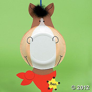 Rodeo Craft Paper Plate Horse
