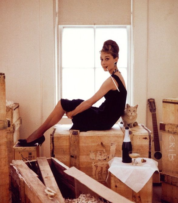 Audrey as Holly Golightly in Breakfast at Tiffany's...