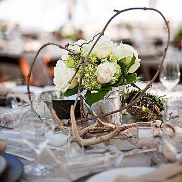 Centre de table mariage d'hiver                                                                                                                                                                                 Plus