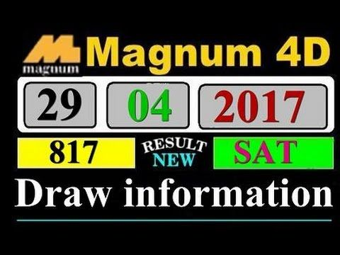 Magnum  Lottery Result Draw 29/05/2017 draw # 817 - http://LIFEWAYSVILLAGE.COM/lottery-lotto/magnum-lottery-result-draw-29052017-draw-817/